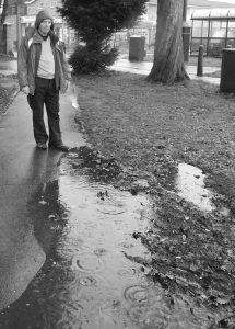 Jim takes a walk on the wet side